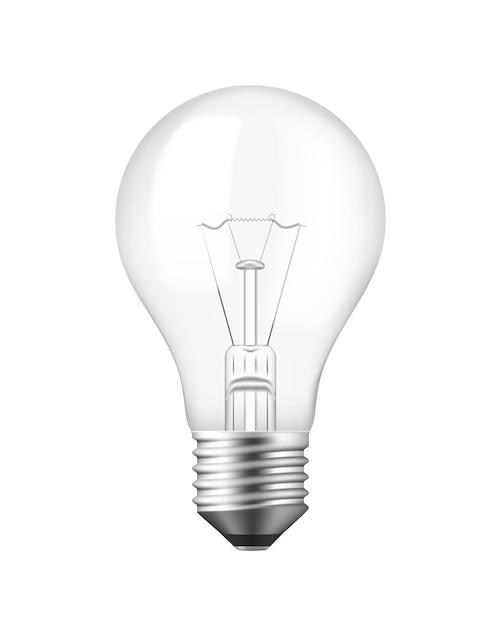 Lâmpada realística isolada de vetor sobre branco Vetor grátis