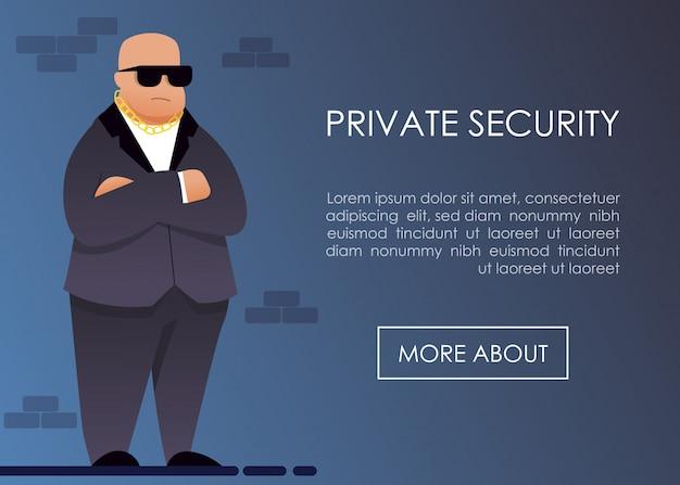 Landing page oferecendo serviço de segurança privada Vetor Premium