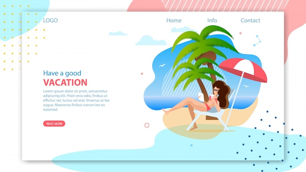 Landing page para agência de viagens online. Vetor Premium