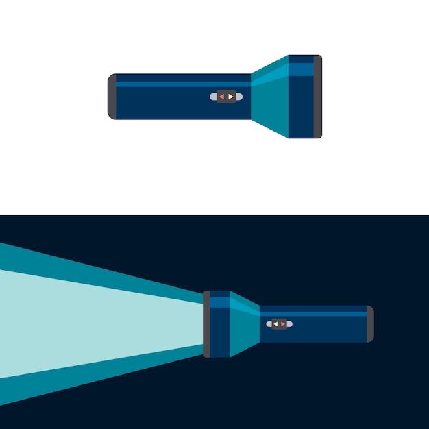 Lanterna. posição ligada e desligada. ilustração Vetor Premium