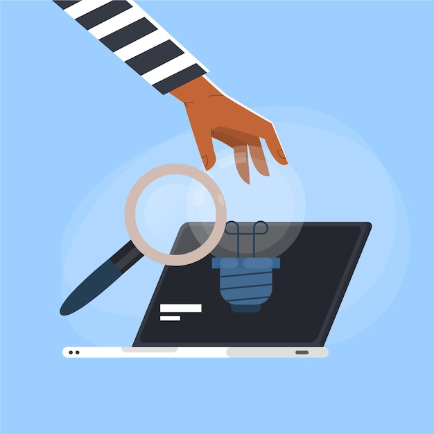 Laptop com ilustração do conceito de plágio Vetor grátis