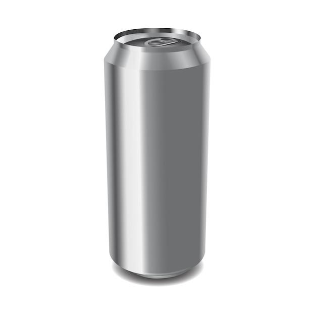 Lata de alumínio Vetor Premium