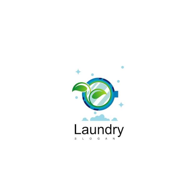 Lavanderia logo design vector Vetor Premium