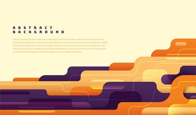 Layout abstrato moderno com formas coloridas. Vetor Premium