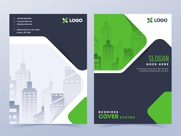 Layout da capa de brochura Vetor Premium