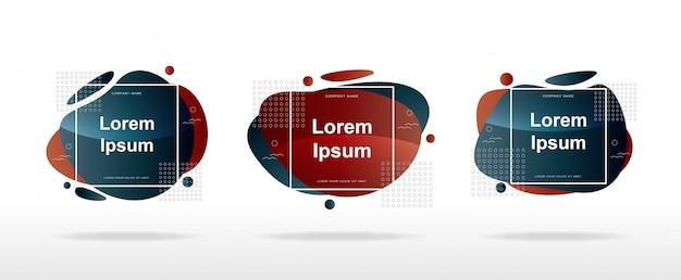 Layout de banner de venda moderno com formas abstratas modernas Vetor Premium