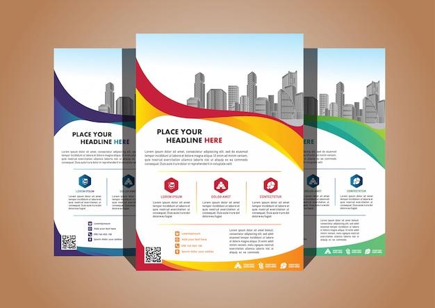 Layout de capa criativa folheto folheto de revista folheto para evento Vetor Premium