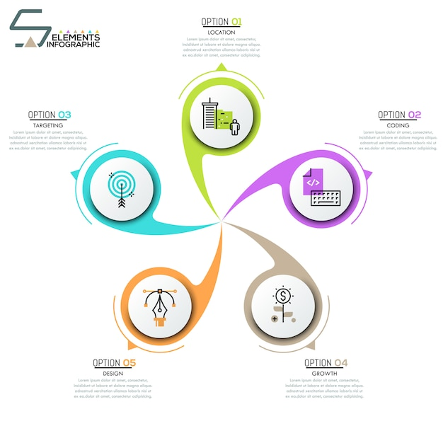 Layout de design moderno infográfico Vetor Premium