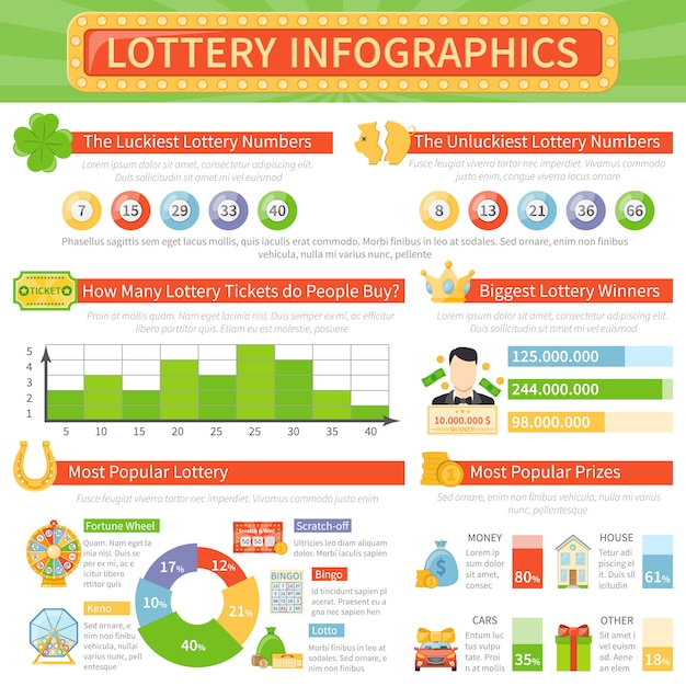 Layout de infográficos de loteria Vetor grátis