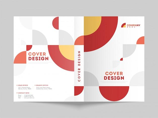 Layout de página de capa de negócios para o setor corporativo. Vetor Premium