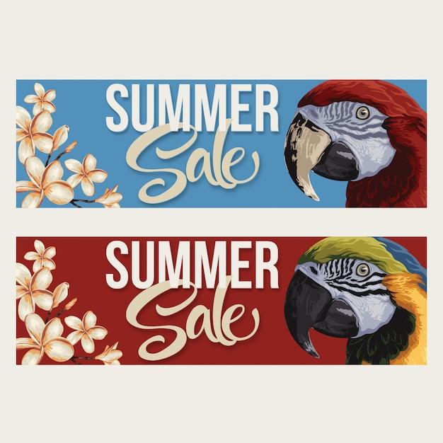 Layout de venda de verão Vetor Premium