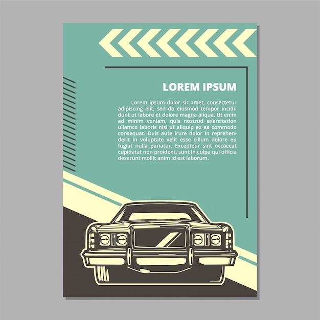 Layout de vetor de carro músculo Vetor Premium