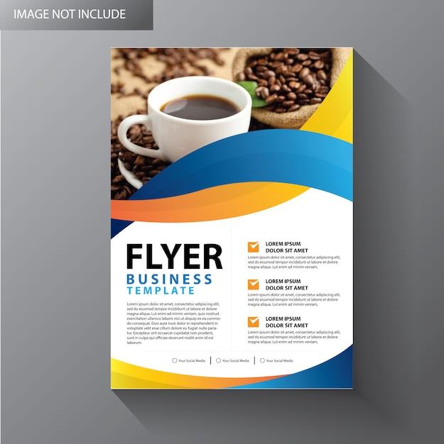 Layout do modelo de folheto Vetor Premium