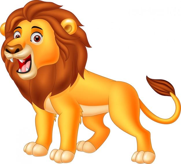 Leão Dos Desenhos Animados Rugindo