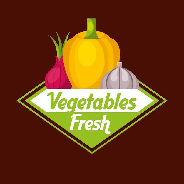 Legumes alimentos frescos Vetor Premium