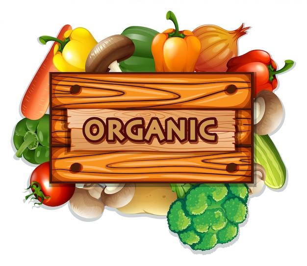 Legumes e tábua orgânicos Vetor grátis