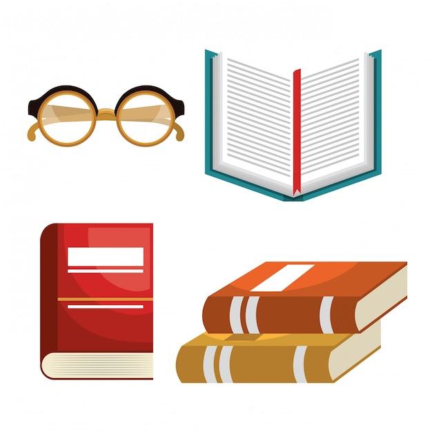 Leia livros design Vetor grátis