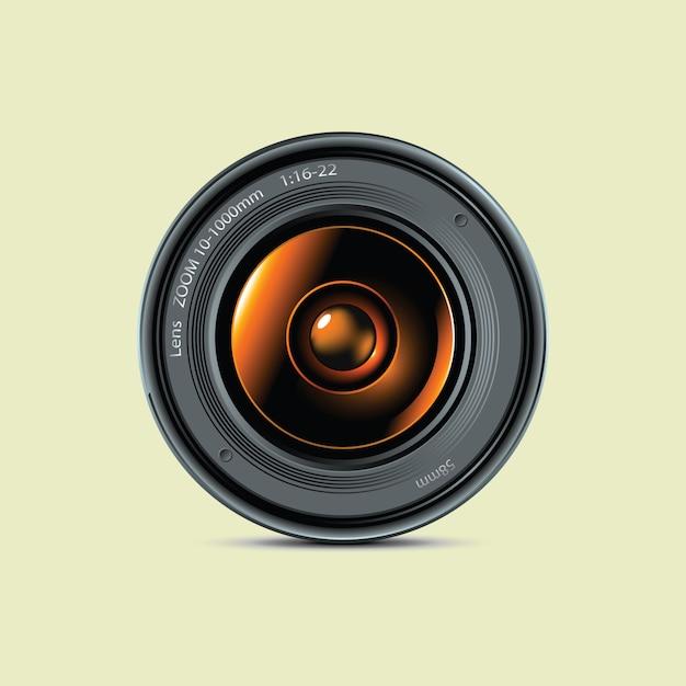 Lente da foto da câmera Vetor Premium