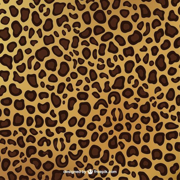 Leopardo padrão de impressão Vetor grátis