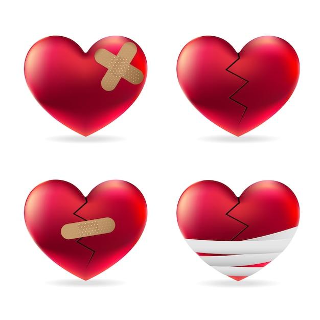 Lesão cardíaca Vetor Premium