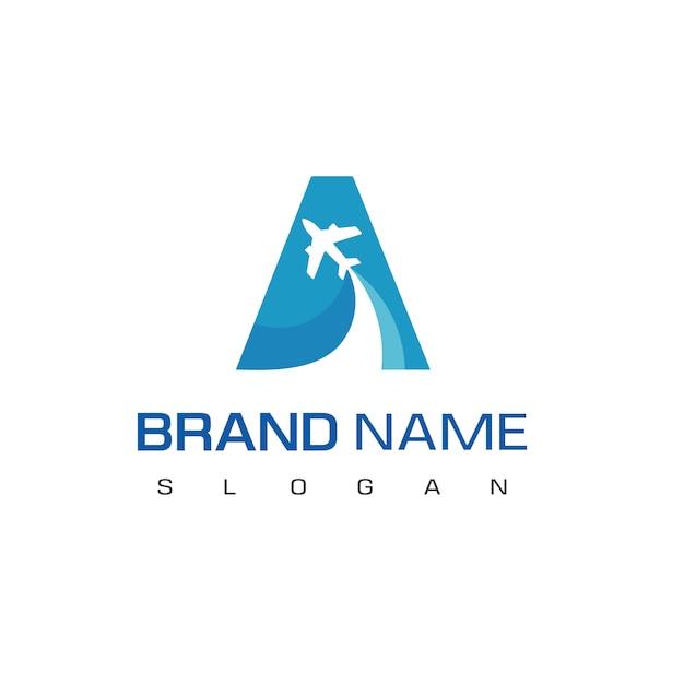 Letra a, logotipo de turismo e viagens Vetor Premium