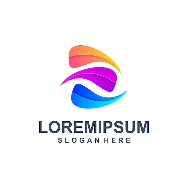 Letra abstrata colorida logo premium Vetor Premium