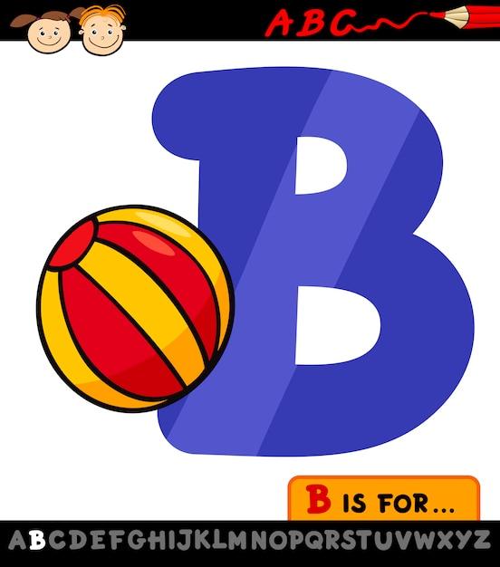 letra b com ilustração de desenho de bola baixar vetores premium