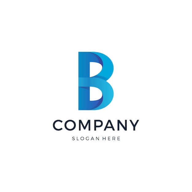 Letra b logotipo projeto vector Vetor Premium