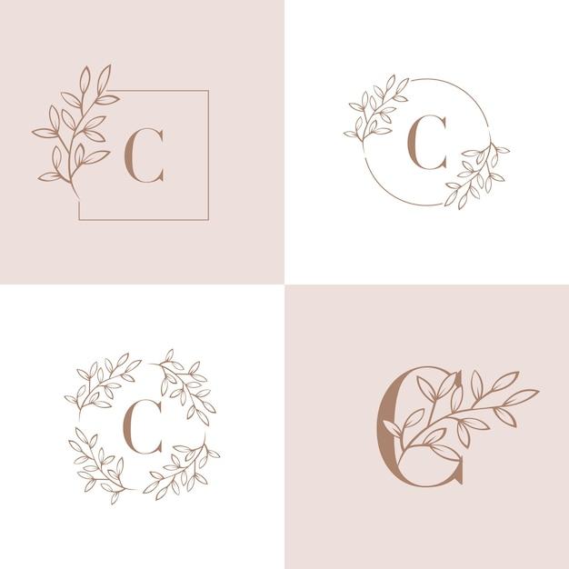Letra c logo design ilustração vetorial Vetor Premium
