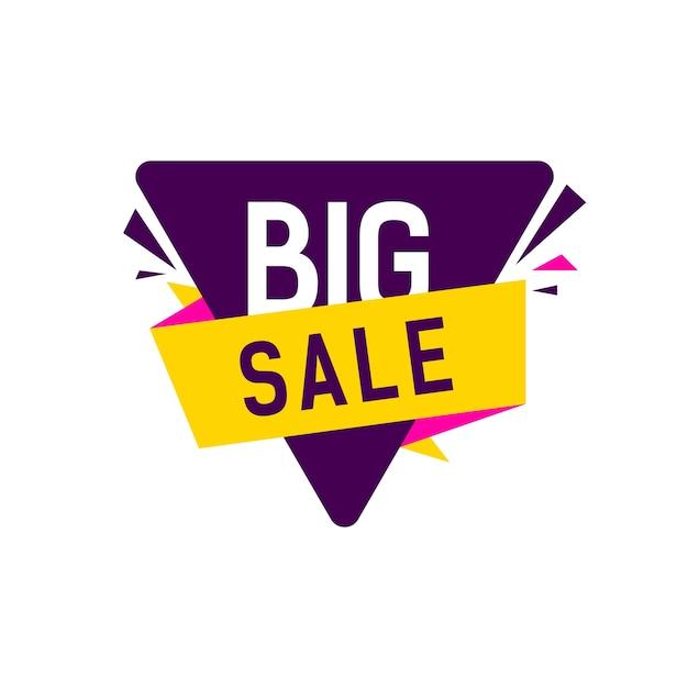 Letra de venda grande em triângulo Vetor Premium