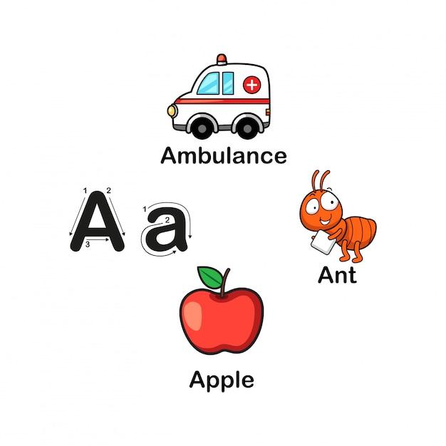 Letra do alfabeto a Vetor Premium