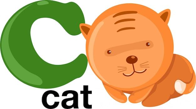 Letra do alfabeto animal - c Vetor Premium