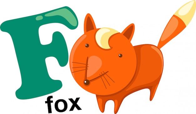 Letra do alfabeto animal - f Vetor Premium