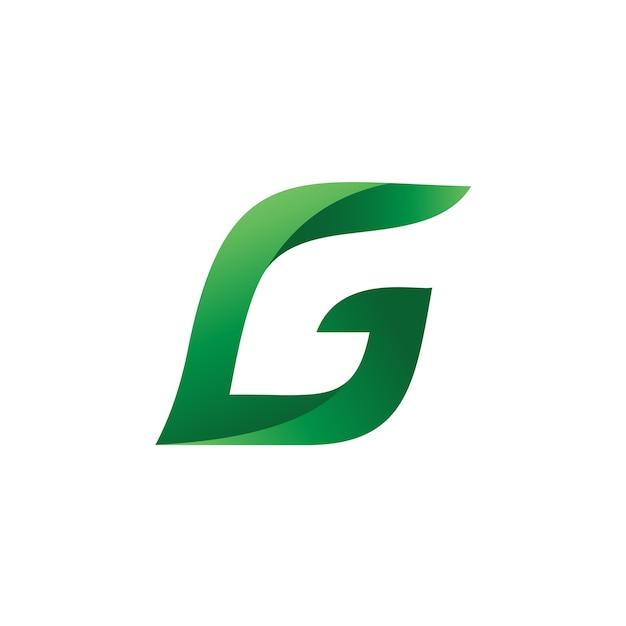 Letra g leaf logo vector Vetor Premium