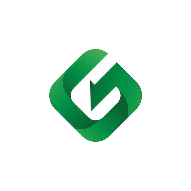 Letra g logo vector Vetor Premium