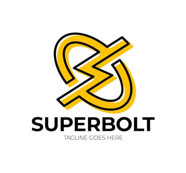 Letra inicial s com design de logotipo thunder. Vetor Premium
