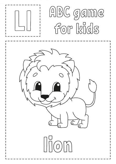 Letra L E Para Leao Abc Jogo Para Criancas Pagina Para Colorir