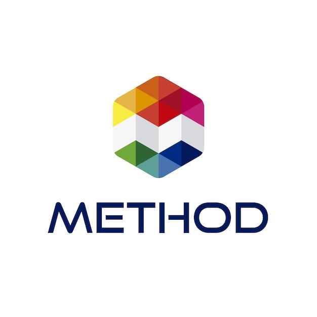 Logo Design Ideas Psd: Letra M Logo Com Design Geométrico