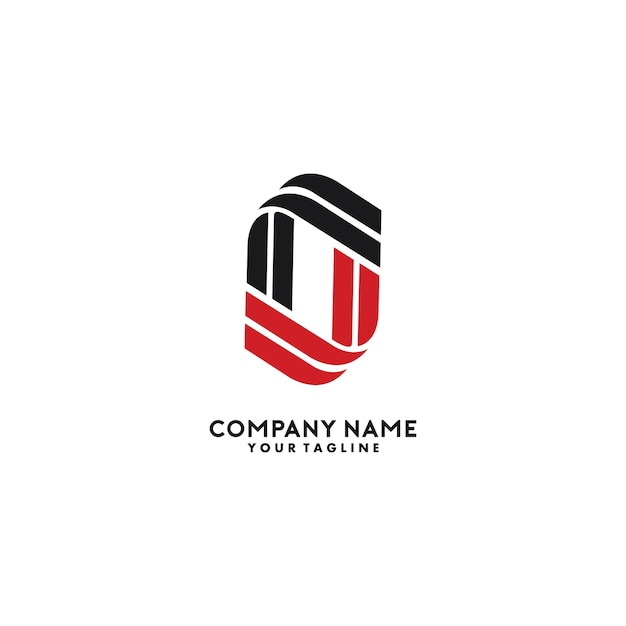 Letra o design de logotipos Vetor Premium