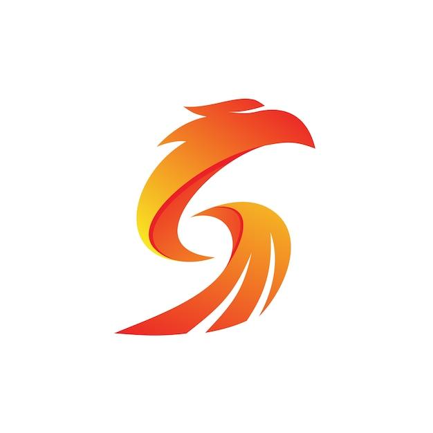 Letra s eagle logo vector Vetor Premium