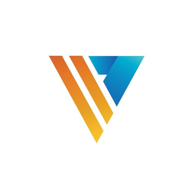 Letra v logo vector Vetor Premium