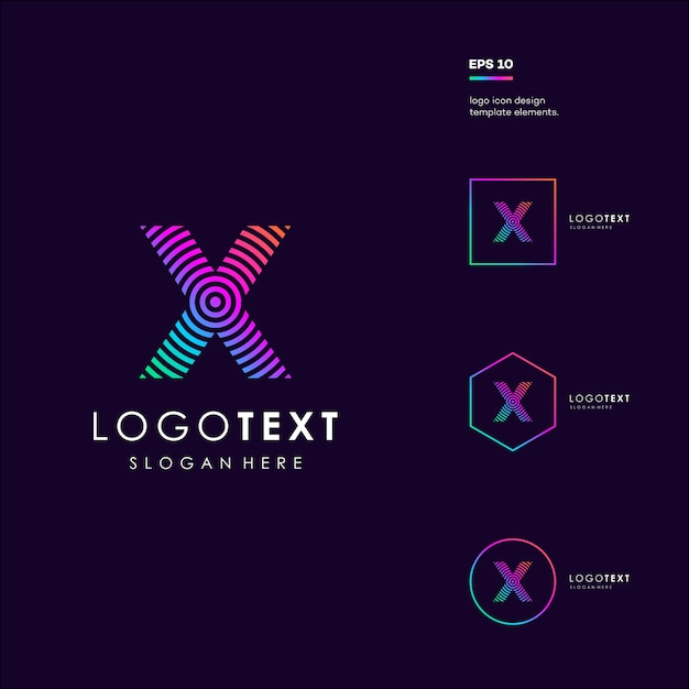 Letra x Vetor Premium