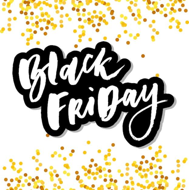 Letras artesanais de venda sexta-feira negra Vetor Premium