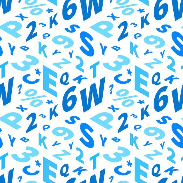 Letras azuis em perspectiva isométrica Vetor Premium