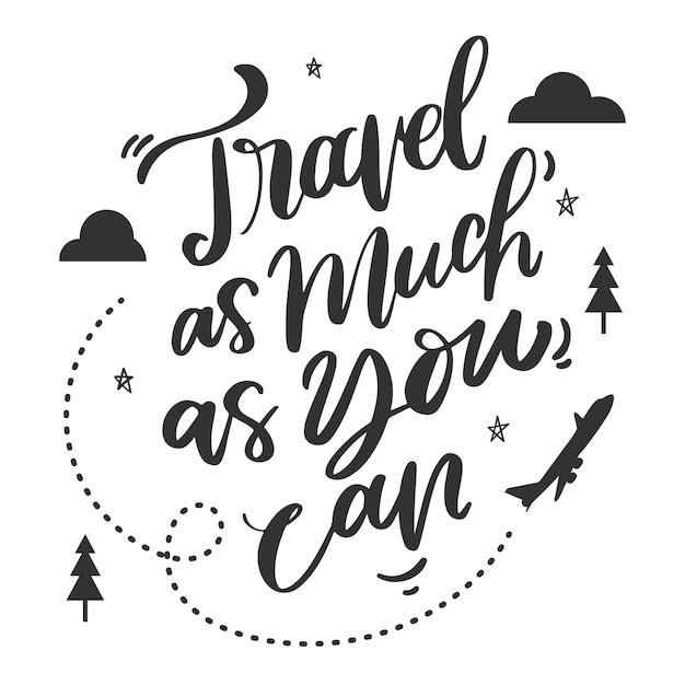 Letras criativas e inspiradas para viajar Vetor grátis