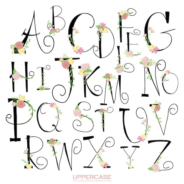Letras de alfabeto lápis verde rosa giz colorido preto Vetor Premium