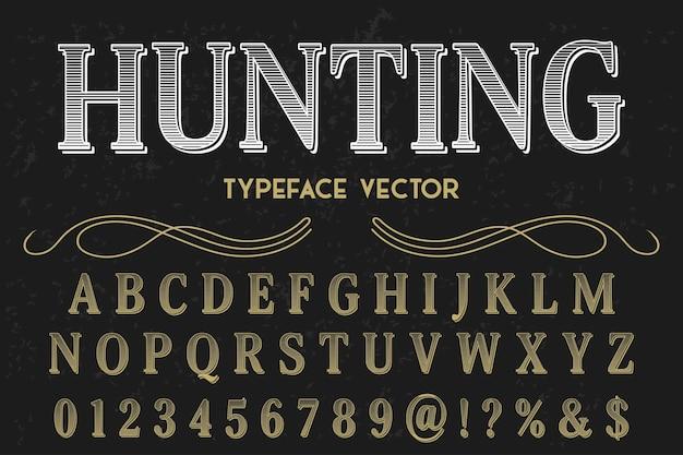 Letras de caça artesanais Vetor Premium