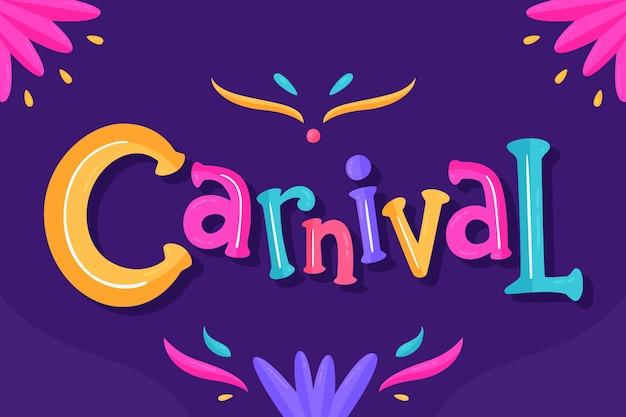Letras de carnaval em fundo escuro Vetor grátis