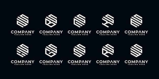Letras de criativos de luxo premium e logotipo etc. para design de logotipo de empresa e negócios Vetor Premium
