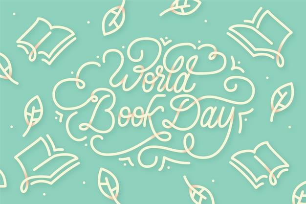 Letras de dia design plano mundo livro Vetor grátis